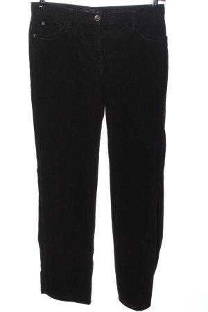 Brax Pantalone di velluto a coste marrone stile casual