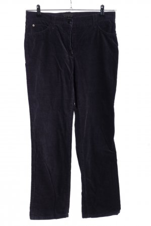 Brax Pantalon en velours côtelé noir style décontracté