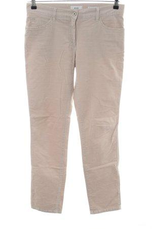 Brax Pantalon en velours côtelé blanc cassé style d'affaires