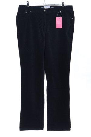 Brax Pantalone di velluto a coste nero stile casual