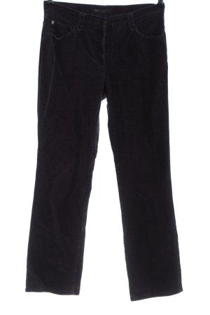 Brax Pantalone di velluto a coste lilla stile casual
