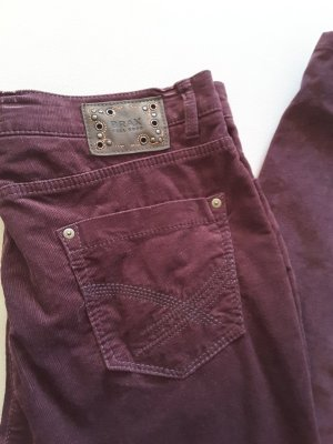 Brax Pantalón de pana rojo oscuro-carmín Algodón