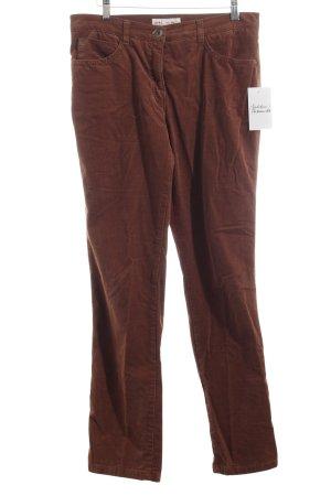 Brax Pantalon en velours côtelé cognac style décontracté