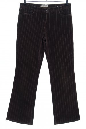 Brax Cordhose braun-wollweiß Streifenmuster Casual-Look