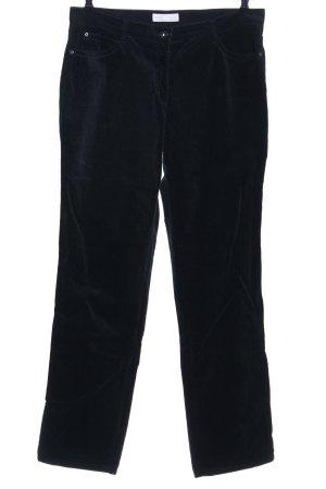 Brax Pantalone di velluto a coste verde scuro stile casual
