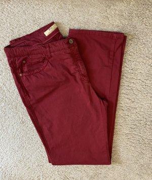 Brax Pantalone elasticizzato carminio-rosso scuro