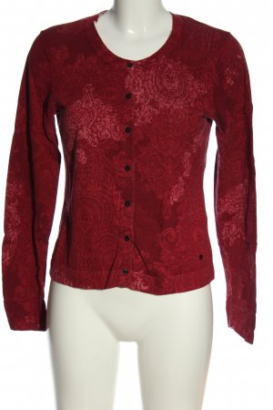 Brax feel Good Cardigan red abstract pattern casual look
