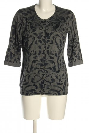 Brax feel Good Cardigan light grey-black abstract pattern casual look
