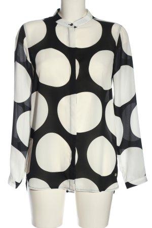 Brax feel Good Hemdblouse zwart-wit gestippeld patroon elegant