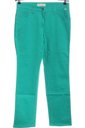 Brax feel Good Spodnie z wysokim stanem turkusowy W stylu casual