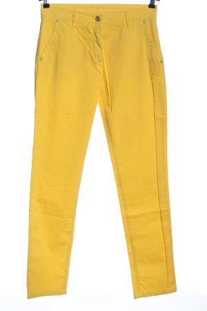 Brax feel Good Spodnie biodrówki bladożółty W stylu casual