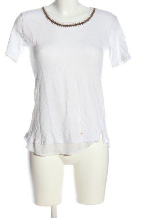 Brax feel Good Short Sleeved Blouse white casual look