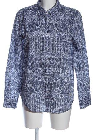 Brax feel Good Shirt met lange mouwen wit-blauw volledige print