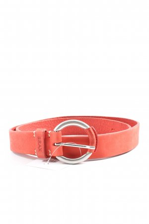Brax feel Good Leather Belt red casual look