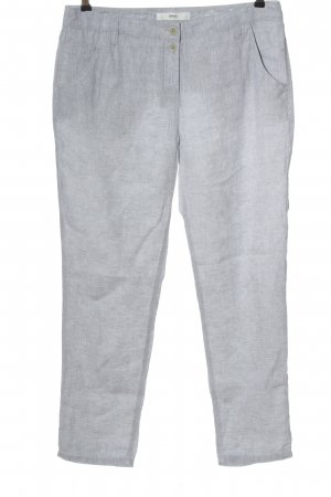 Brax feel Good Pantalón de lino gris claro moteado look casual