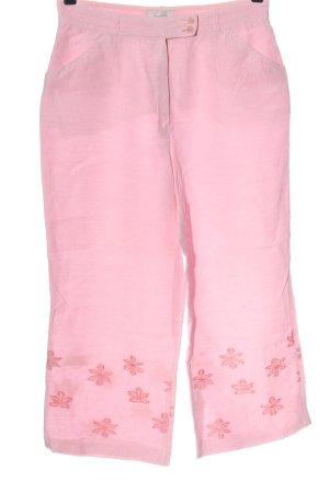 Brax feel Good Lniane spodnie różowy W stylu casual