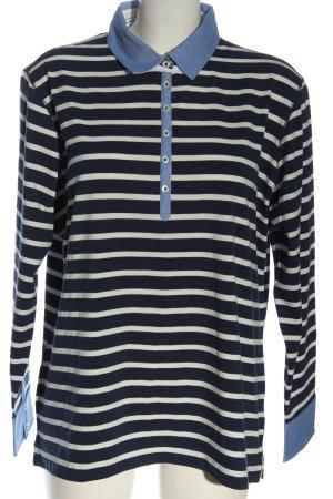 Brax feel Good Koszulka polo niebieski-biały Wzór w paski W stylu casual