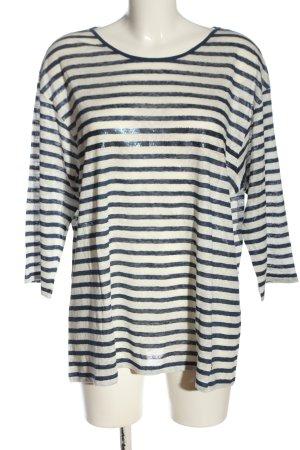 Brax feel Good Koszulka w paski biały-niebieski Wzór w paski W stylu casual