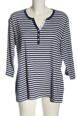 Brax feel Good Koszulka w paski niebieski-biały Wzór w paski W stylu casual