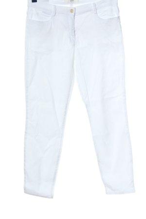 Brax feel Good Pantalon cigarette blanc style décontracté