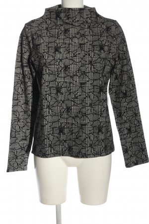 Brax feel Good Turtleneck Sweater white-black allover print casual look