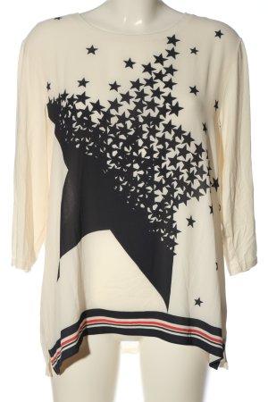 Brax feel Good Slip-over blouse room-zwart prints met een thema