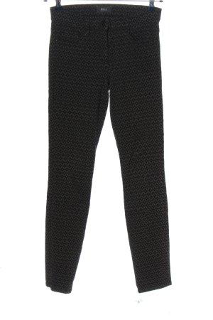 Brax feel Good Stoffen broek lichtgrijs-zwart volledige print casual uitstraling
