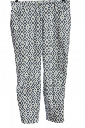 Brax feel Good Jersey Pants white-blue allover print casual look