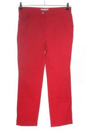 Brax feel Good Stoffen broek rood casual uitstraling