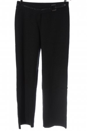 Brax feel Good Wełniane spodnie czarny W stylu biznesowym