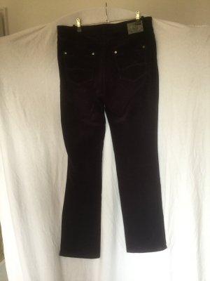 Brax Spodnie sztruksowe fiolet Bawełna