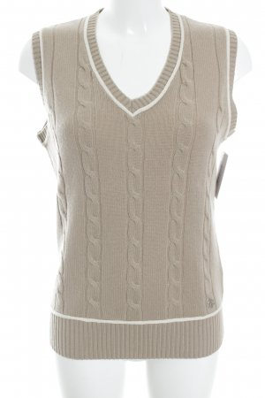 Brax Fine Knitted Cardigan beige-natural white classic style