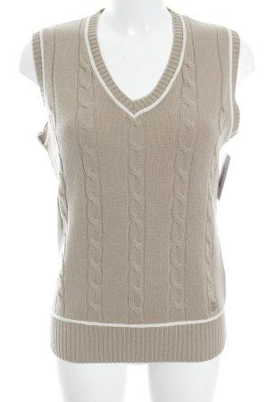 Brax Cardigan en maille fine beige-blanc cassé style classique