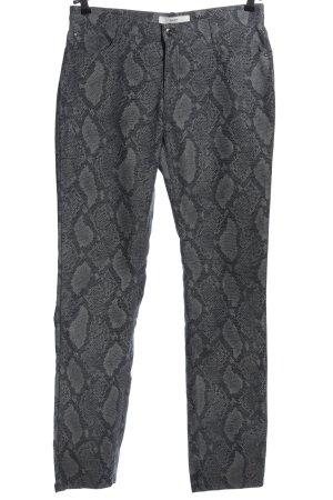 Brax Spodnie z pięcioma kieszeniami jasnoszary-czarny Na całej powierzchni