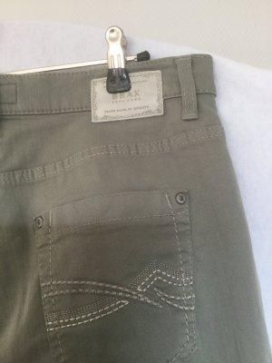 Brax Spodnie z pięcioma kieszeniami zielono-szary Bawełna