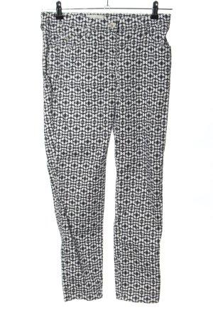 Brax Five-Pocket-Hose weiß-schwarz abstraktes Muster Casual-Look