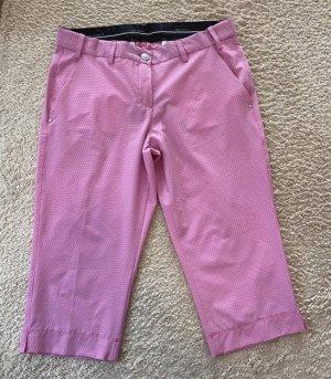 brax golf Pantalon 3/4 rose-blanc