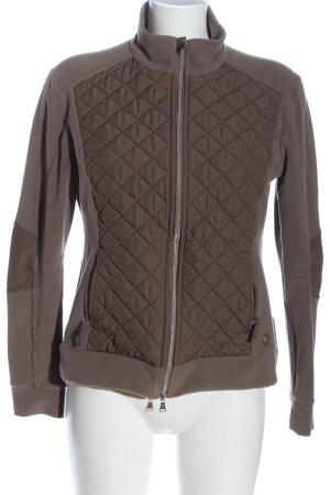 brax golf Veste polaire brun motif de courtepointe style décontracté