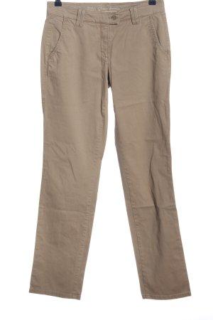 Brax Pantalone a vita alta crema stile casual