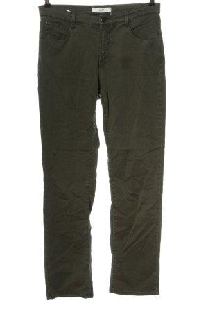 Brax Spodnie z wysokim stanem khaki W stylu casual