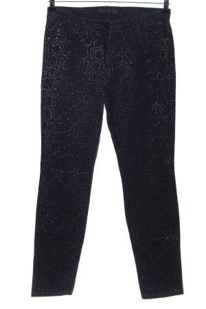 Brax High-Waist Hose schwarz abstraktes Muster Casual-Look