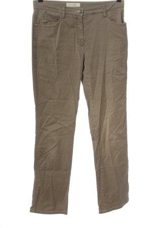 Brax Spodnie z wysokim stanem brązowy W stylu casual