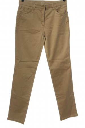 Brax Pantalone a vita alta marrone stile casual