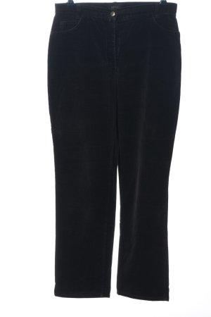 Brax Pantalone a vita alta nero stile casual