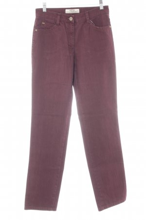 Brax Hoge taille jeans bordeaux casual uitstraling