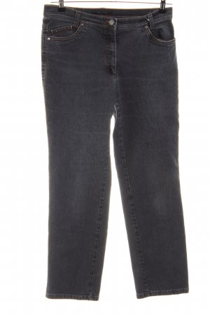 Brax Hoge taille jeans zwart casual uitstraling