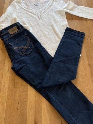 Brax Jeans taille haute bleu foncé