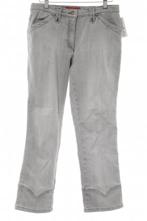 Brax Hoge taille jeans grijs casual uitstraling