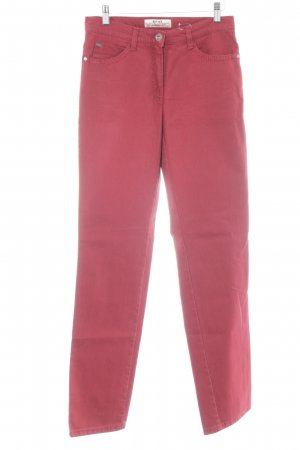 Brax Hoge taille jeans baksteenrood casual uitstraling