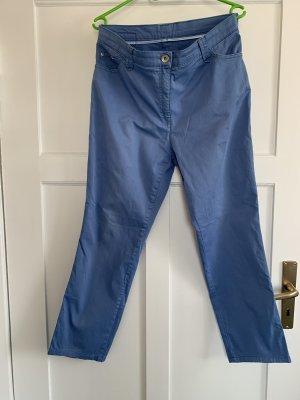 Brax Stoffen broek blauw-neon blauw Katoen